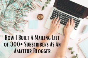How I Built A Mailing List of 300+ Subscribers As An Amateur Blogger